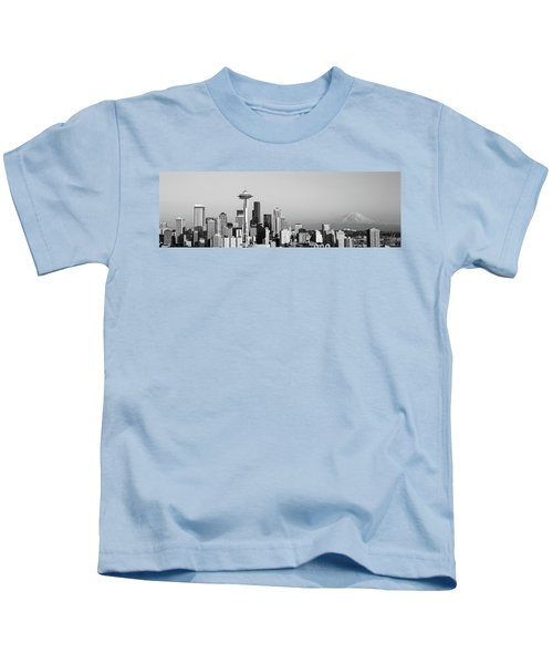 Skyline, Seattle, Washington State, Usa Kids T-Shirt by Panoramic Images
