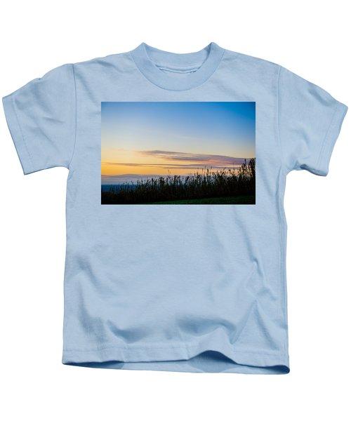 Sunset Over The Field Kids T-Shirt
