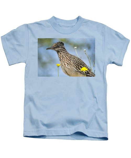 The Greater Roadrunner  Kids T-Shirt by Saija  Lehtonen
