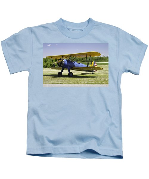 1941 Stearman A75n1 Biplane Airplane  Kids T-Shirt