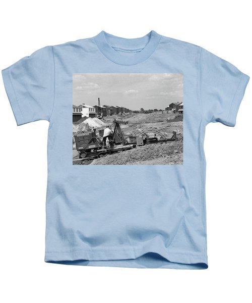 1950s Construction Mechanical Plumbing Kids T-Shirt