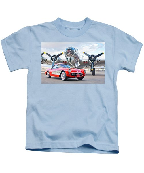 1957 Chevrolet Corvette Kids T-Shirt