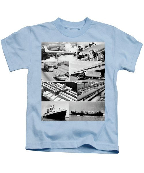 1960s Montage Of Various Forms Kids T-Shirt