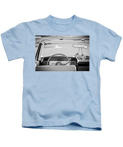 1967 Lincoln Continental Steering Wheel -014bw Kids T-Shirt