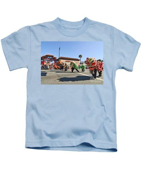 Chinese New Year Parade In Chinatown Of Los Angeles California. Kids T-Shirt