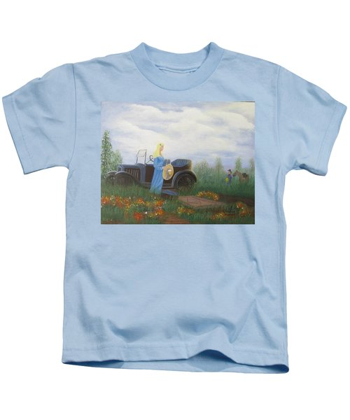Waiting For A Picnic Kids T-Shirt