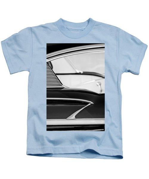 1958 Chevrolet Belair Abstract Kids T-Shirt