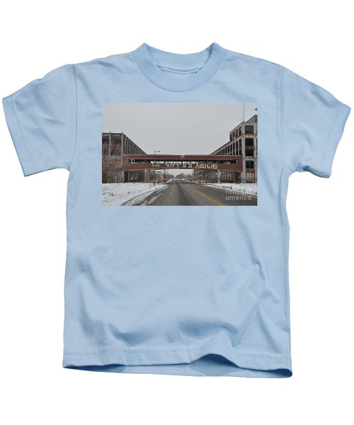 Detroit Packard Plant Kids T-Shirt