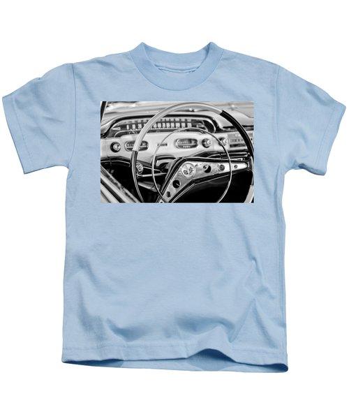 1958 Chevrolet Impala Steering Wheel Kids T-Shirt