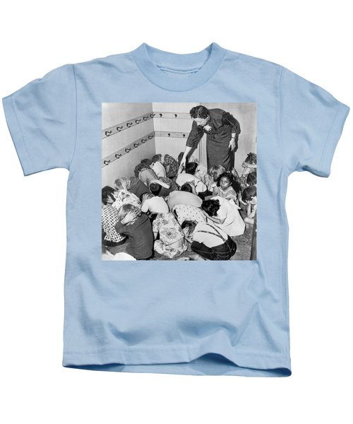 A Duck And Cover Exercise In A Kindergarten Class In 1954 Kids T-Shirt