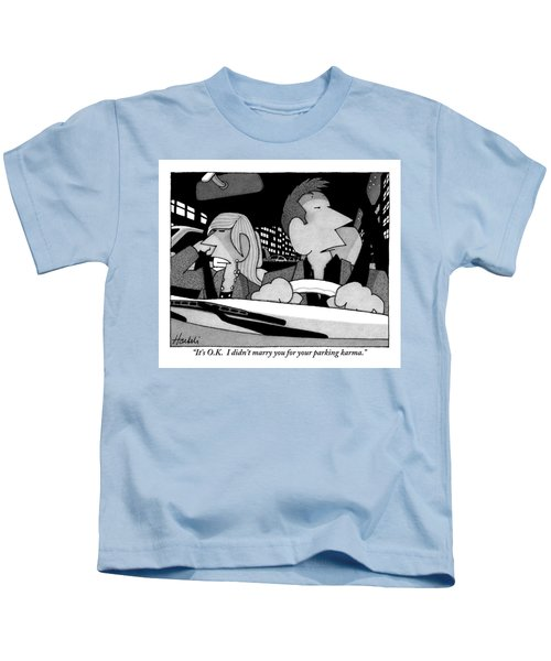 A Married Couple Are Seen In The Front Seats Kids T-Shirt