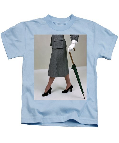 A Model Holding An Umbrella Kids T-Shirt