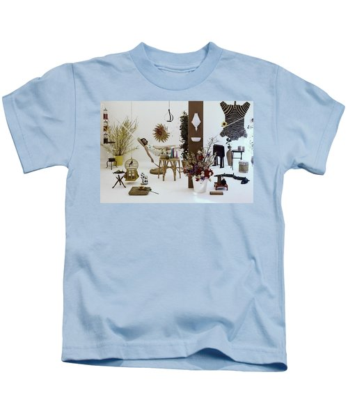 A Woman In A Hammock And Porch Furniture Kids T-Shirt