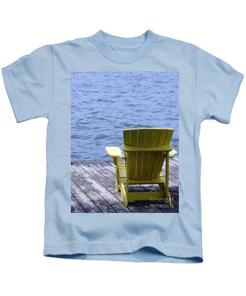Adirondack Chair On Dock Kids T-Shirt