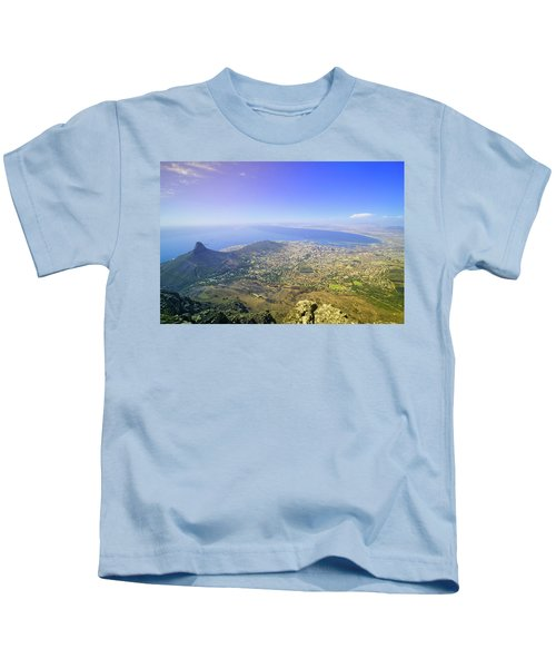 Aerial View From Table Mountain Kids T-Shirt
