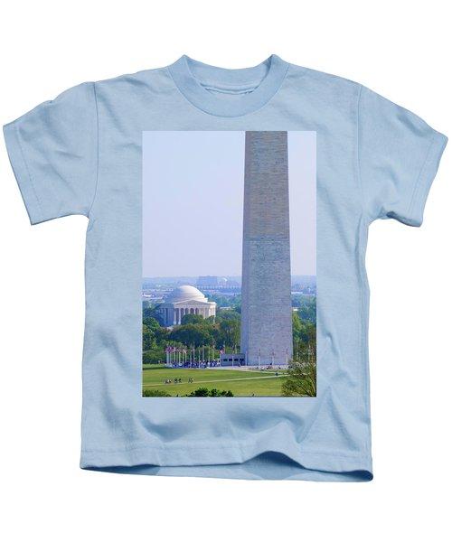 Aerial View Of Washington Monument Kids T-Shirt