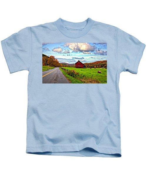 Ah...west Virginia Painted Kids T-Shirt