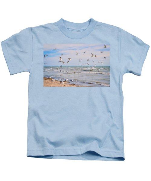 Along The Beach Kids T-Shirt