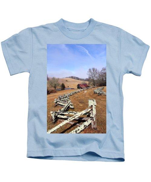 Along The Locust Rails Kids T-Shirt