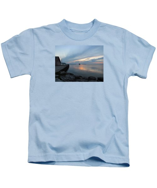 Anderson Dock Sunset Kids T-Shirt