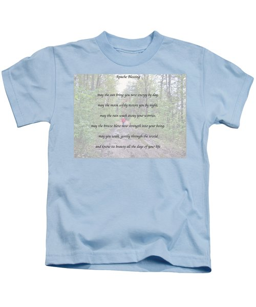 Apache Blessing With Photo Kids T-Shirt