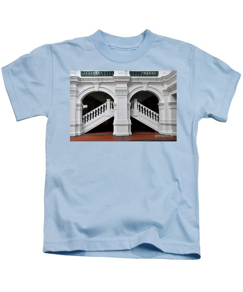 Arch Staircase Balustrade And Columns Kids T-Shirt