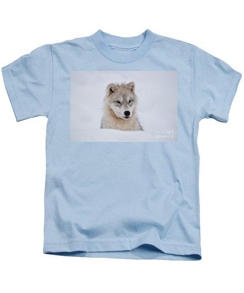 Arctic Pup In Snow Kids T-Shirt