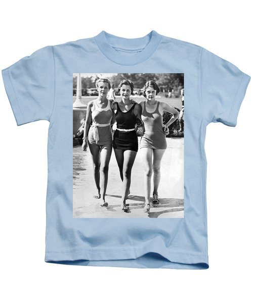 Army Bathing Suit Trio Kids T-Shirt by Underwood Archives