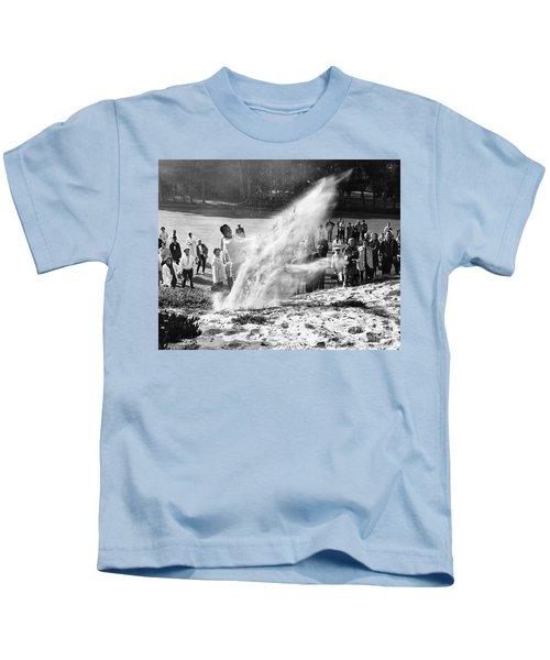 Arnold Palmer At Pebble Beach California Rey Ruppel Photo Circa 1955 Kids T-Shirt