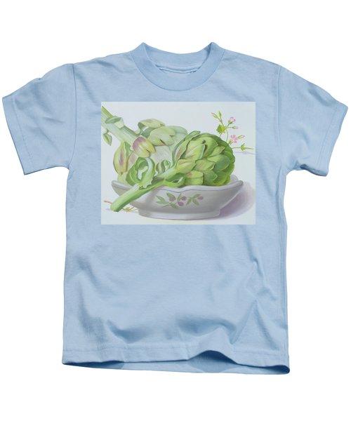 Artichokes Kids T-Shirt by Lizzie Riches