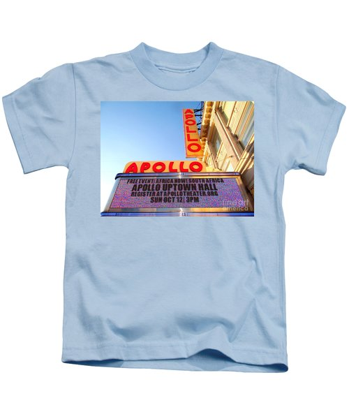 At The Apollo Kids T-Shirt by Ed Weidman