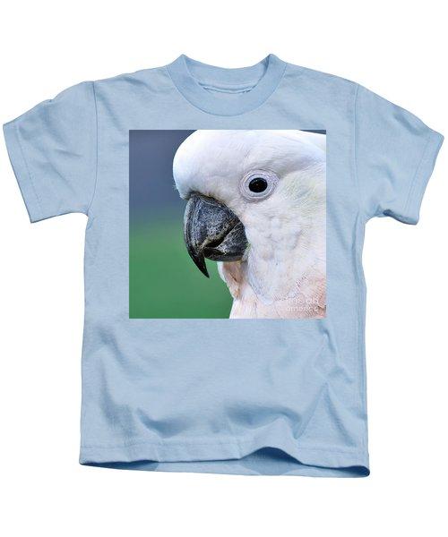 Australian Birds - Cockatoo Up Close Kids T-Shirt by Kaye Menner