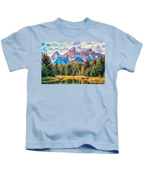 Autumn In The Tetons Kids T-Shirt