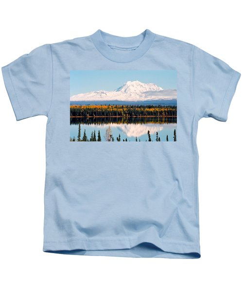 Autumn View Of Mt. Drum - Alaska Kids T-Shirt