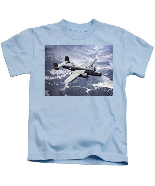 B-25 World War II Era Bomber - 1942 Kids T-Shirt
