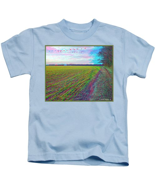 Back Forty - Use Red/cyan Filtered 3d Glasses Kids T-Shirt