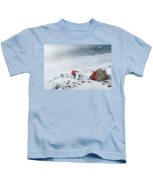 Backcountry Ski Tour To The Highest Kids T-Shirt