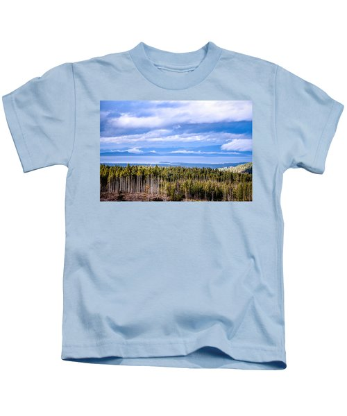 Johnstone Strait High Elevation View Kids T-Shirt