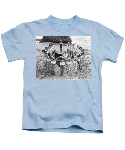 Ballet Rehearsal On The Beach Kids T-Shirt