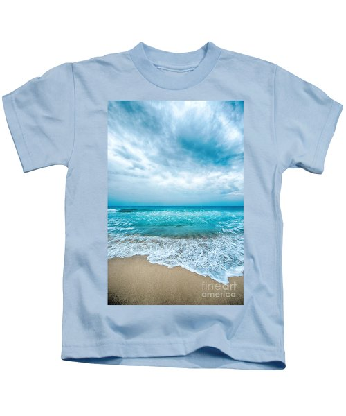 Beach And Waves Kids T-Shirt
