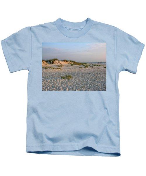 Beach At Sunrise Kids T-Shirt