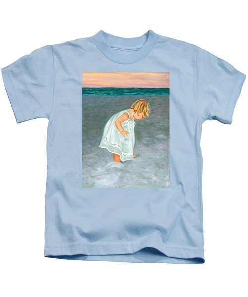 Beach Baby In White Kids T-Shirt
