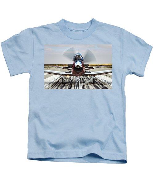 Beechcraft T-6a Texan II D Kids T-Shirt