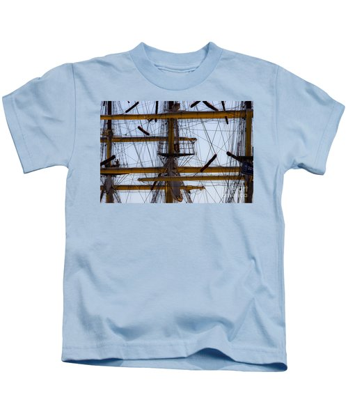 Between Masts And Ropes Kids T-Shirt
