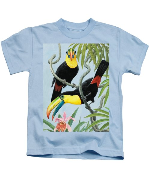 Big-beaked Birds Kids T-Shirt by RB Davis
