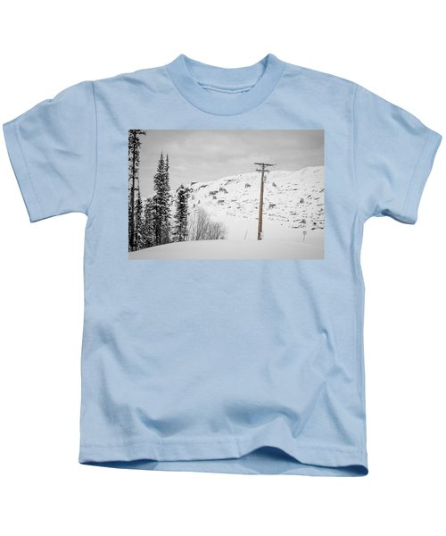Big Horn Sheep Hinton Hillside Kids T-Shirt