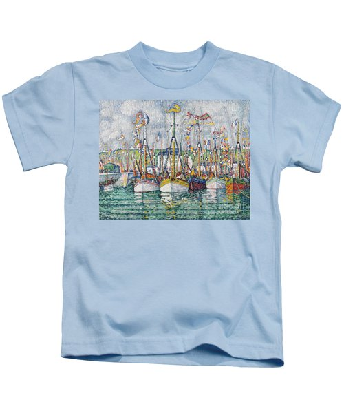 Blessing Of The Tuna Fleet At Groix Kids T-Shirt