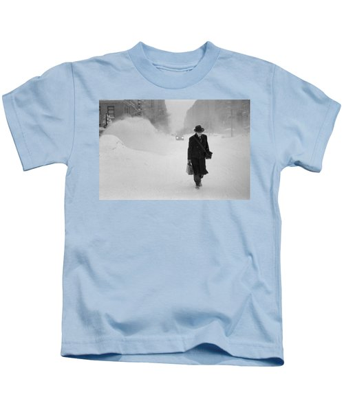 Blizzard On Park Avenue Kids T-Shirt