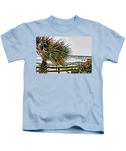 Blowin At The Beach Kids T-Shirt