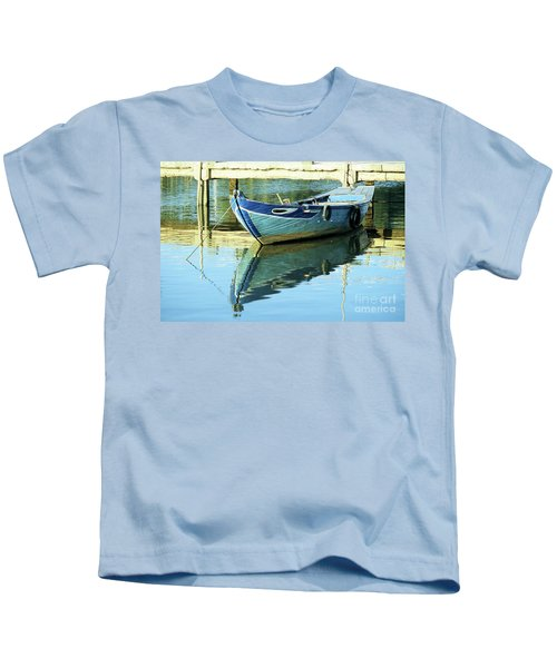 Blue Boat 01 Kids T-Shirt